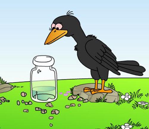 简笔画咋画乌鸦-喝水的简笔画法图片