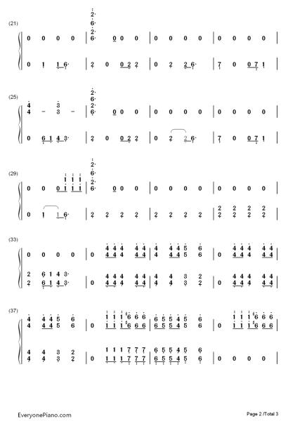 crooked钢琴简谱数字图片