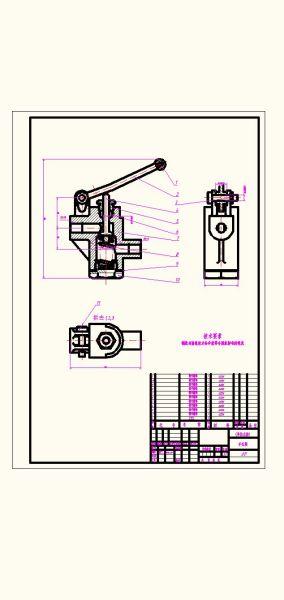 求一个手压阀的装配图图片