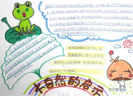 关于自然景观手抄报_关于大自然的手抄报.