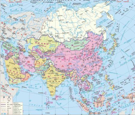 亚洲一�_求一份亚洲地图