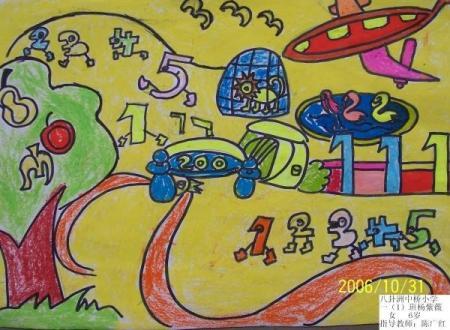 三年级数学想象画图片