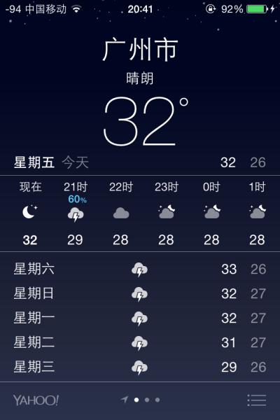 iphone自带的天气里面 有个天气标识是云下有个闪电 一直不明白什么意图片