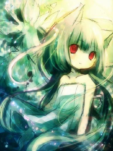 绿头发的一女的图片