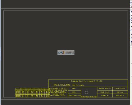 您好 请问制作proe 工程图模板时,标题栏中的第三视角投影标识的符图片