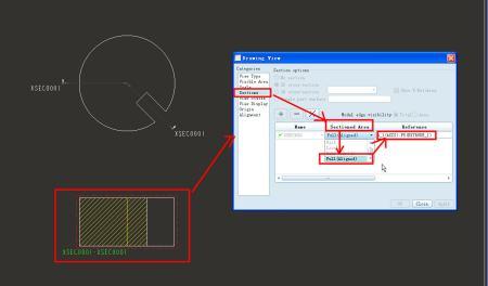 同问 proe4.0工程图绘制如何完全展开旋转剖视图图片