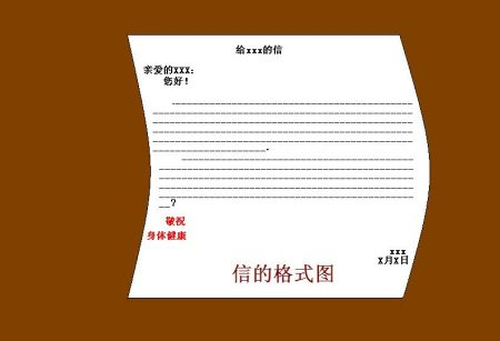写信的格式图图片