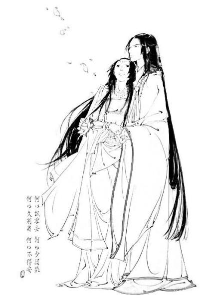 古风图片双人(男抱女)图片