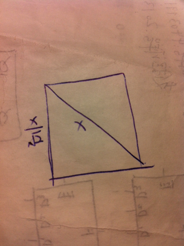 知道正方形对角线的长度如何求边长图片