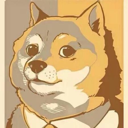 求秋田犬斜眼表情动漫头像图片