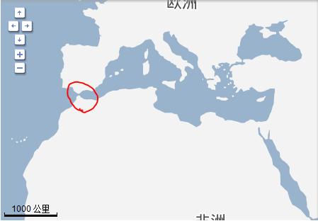 直布罗陀海峡在哪