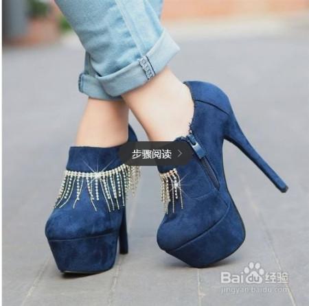 鞋非常的漂亮坡跟的设计穿起来也非常舒服搭配热裤或者小短裙穿都非