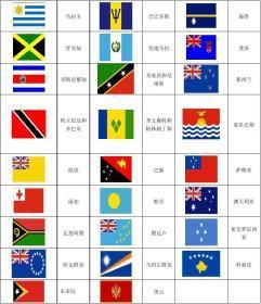 2015世界锦标赛参赛国家的国旗和英语名称图片