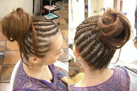 许多黑人留的小辫子,叫什么发型?图片