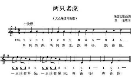 电子琴入门乐谱