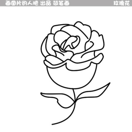 同问 玫瑰花简笔画怎样画