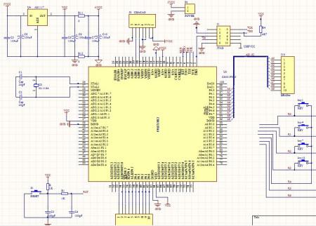 8051F单片机电路图设计图片
