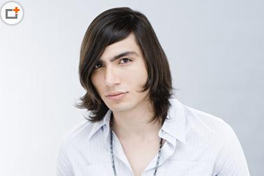 各种男生长头发发型图片