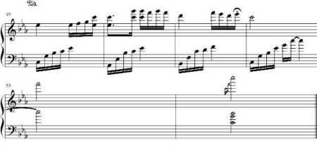 谁有《夜的钢琴曲五》的简谱图片
