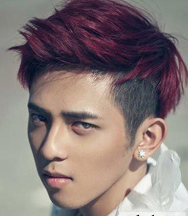 关于男生向上翘刘海的发型问题.图片