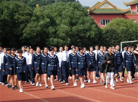 昆山中学校服图片
