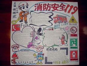 把一份消防安全为主题的手抄报图片