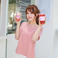 女生喝奶茶的照片 要唯美清晰
