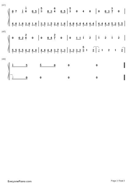 未闻花名中 青い栞 的简谱复音口琴的.图片