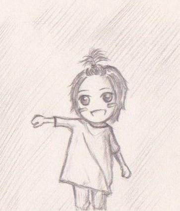 我要铅笔画的短发女生.图片