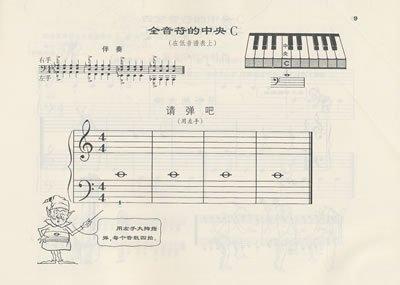 谁有认识钢琴乐谱的书啊 就是看见他上面的谱子,就知道该弹哪个键图片