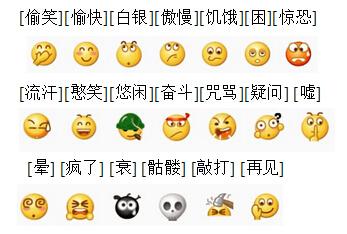 微信表情符号相对应的意思图片