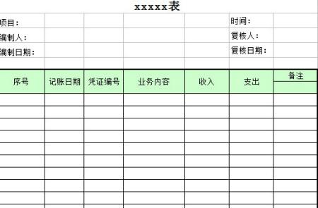 现金日记账电子表格 现金日记账自动表格 现金日记账空白表格图片