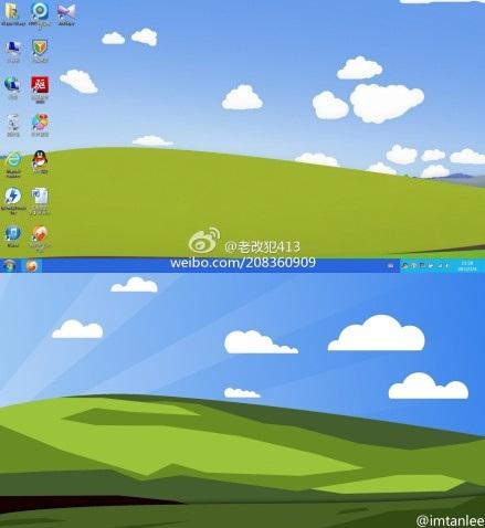 xp的经典蓝天白云草地壁纸最新的扁平化风格图片高清图片