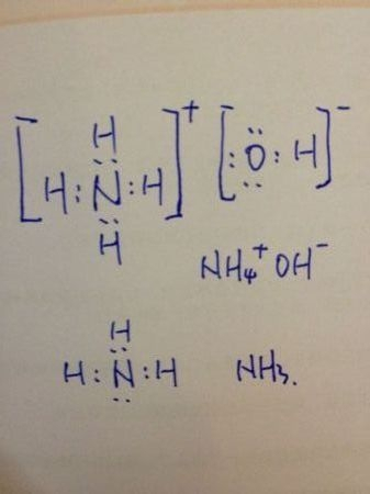 氨水的化学式是nh3·h2o,电子式nh4  oh-是为了帮助了解氨水的电子图片