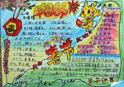 春节的手抄报图片有含量一点的