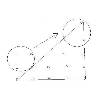 15颗棋子排成三行(长方形)图片