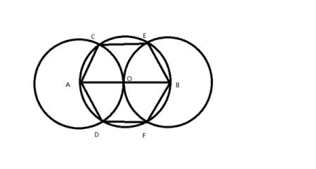 你能不能量出他的边长,只用圆规和直尺画出它?图形:是个六边形.图片