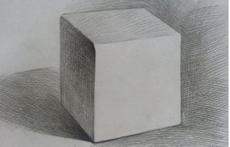 素描正方体.怎么画?图片