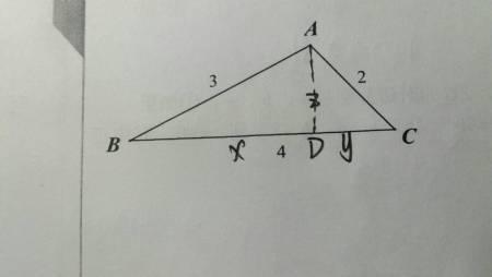 已知钝角三角形的三边长为2.3.4,求该三角形图片