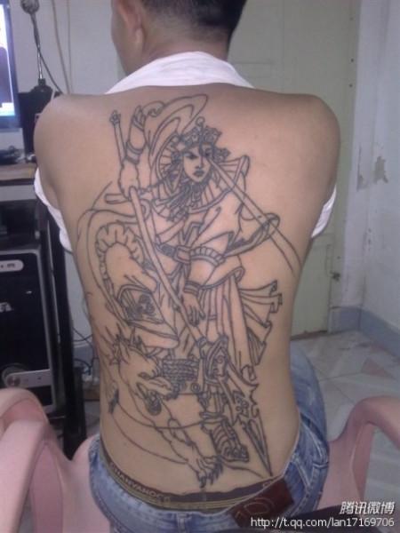二郎神纹身图案图片