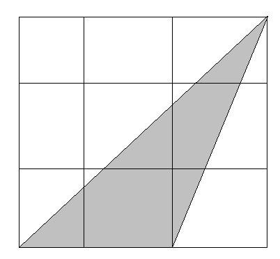 如图,一个大正方形分成9个相同的小正方形,他们共有16图片