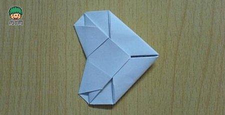 正方形纸怎么折爱心图片图片