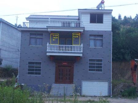 今年家里造房子,这种外观的房子选什么样的外墙瓷砖 装修方高清图片