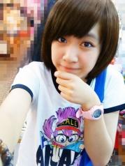 不染不烫14岁女生短发图片