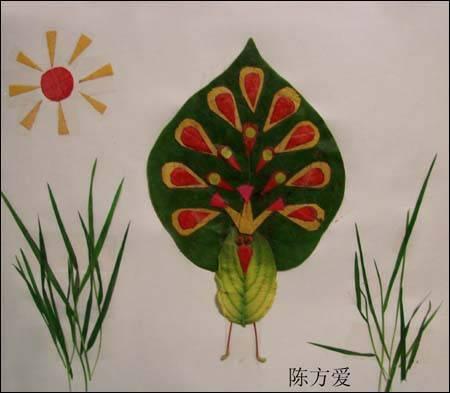 用树叶做的 手工 贴画 怎么做 帮我做几幅图片-手工树叶怎么做
