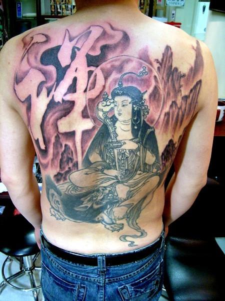 整臂纹身上面佛祖中间一个禅字下面艺妓手稿,我有那张图片,需要手稿图片