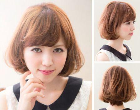 求短发内扣一个半卷的图.烫内扣可以让头发蓬松看起多图片