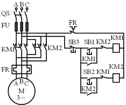 交流接触器互锁接线图图片
