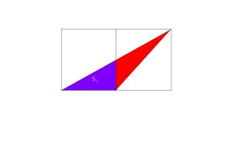 已知图中长方形是由两个正方形所拼成的,三角形s1的面积为18平方厘米图片