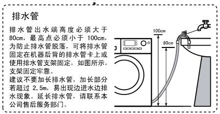海尔滚筒式洗衣机xqg60-k1079如何加长排水管?图片